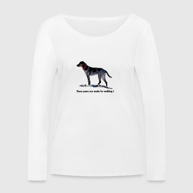 These paws are made for walking - Women's Organic Longsleeve Shirt by Stanley & Stella