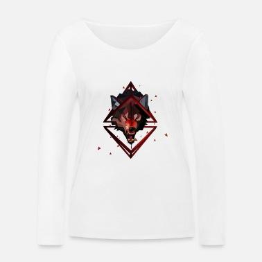 ea3862810e23 3D polygonal Art Wolf Women s Ringer T-Shirt