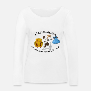 Dogowner Hiking Dogowner Dog Backpacker Nature Pet Love - Women's Organic Longsleeve Shirt