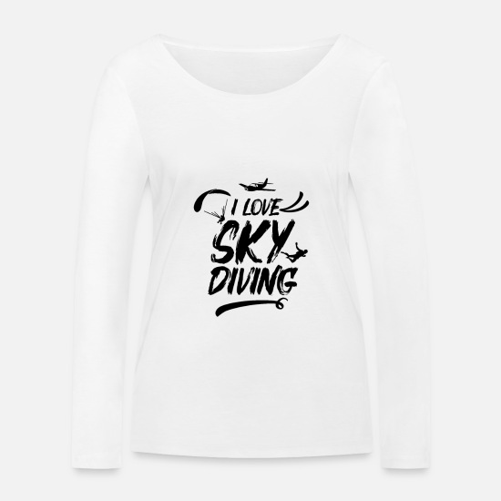 Skydiving Long sleeve shirts - Skydiver skydiver - Women's Organic Longsleeve Shirt white