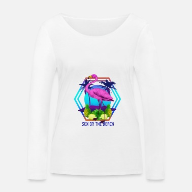 Sex On The Beach Flamingo Sex On The Beach - Vrouwen bio longsleeve