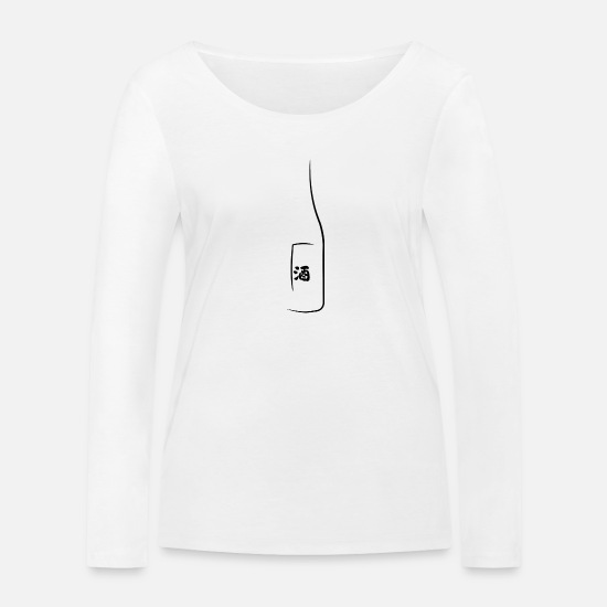 Alcohol Long Sleeve Shirts - sake bottle - Women's Organic Longsleeve Shirt white