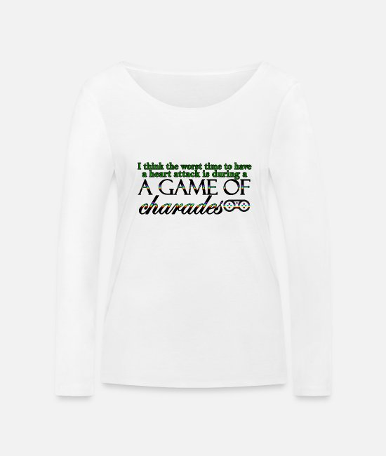 Heart Long-Sleeved Shirts - Game of Charades 53 G - Women's Organic Longsleeve Shirt white