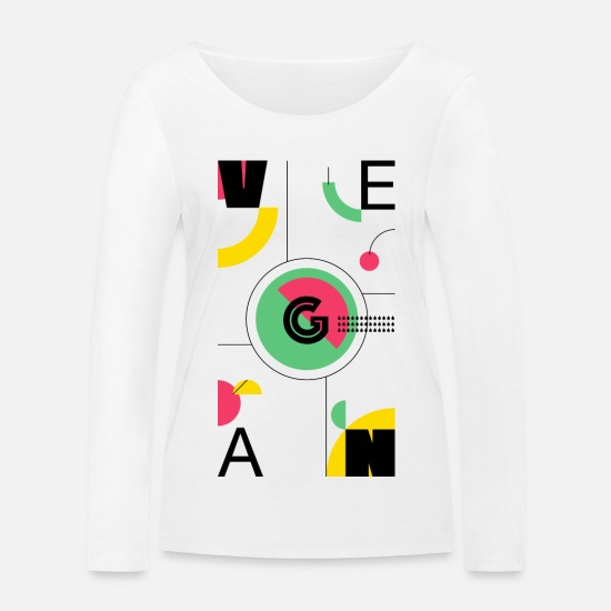 Cherry Long Sleeve Shirts - Abstract Vegan - Women's Organic Longsleeve Shirt white