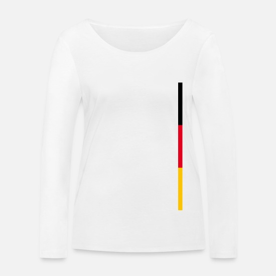Federal Republic Of Germany Long Sleeve Shirts - Germany flag style stripes - Women's Organic Longsleeve Shirt white