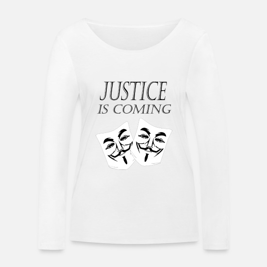 Illuminati Long sleeve shirts - justice is coming - Women's Organic Longsleeve Shirt white