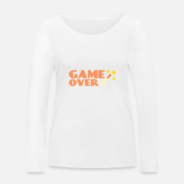 Retro Game Figuren Game Over Retro - Vrouwen bio longsleeve