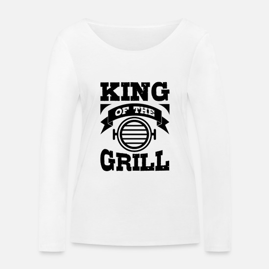 Birthday Long sleeve shirts - grilling - Women's Organic Longsleeve Shirt white