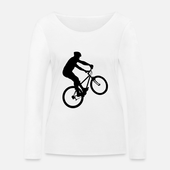 Biker Long sleeve shirts - Biker - Women's Organic Longsleeve Shirt white