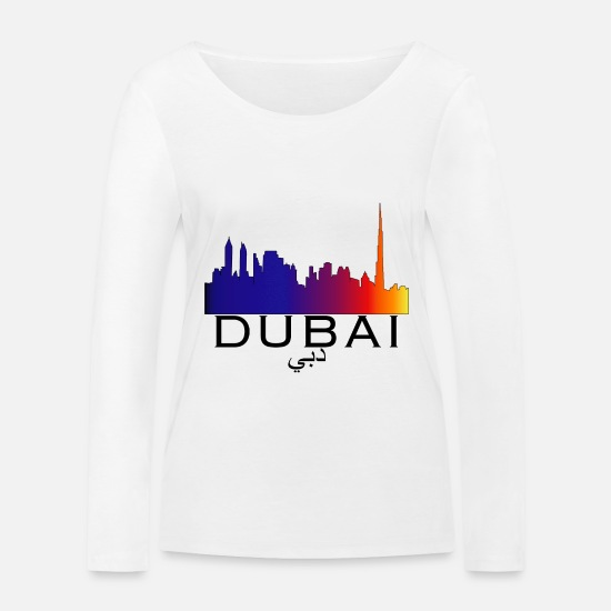 Doha Long sleeve shirts - Dubai skyline - Women's Organic Longsleeve Shirt white