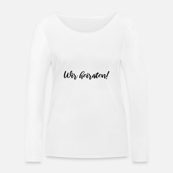 Marriage Proposal Long sleeve shirts - Marry - Women's Organic Longsleeve Shirt white