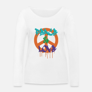 PEACE AND LOVE TAG - Women's Organic Longsleeve Shirt