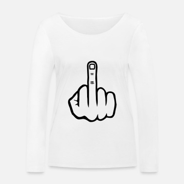 Finger Asshole finger, licking my ass, gift - Women's Organic Longsleeve Shirt