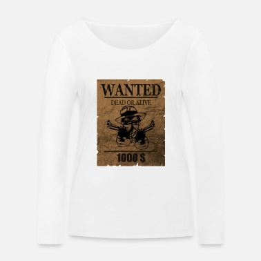Wanted wanted - Maglietta maniche lunghe ecologica donna