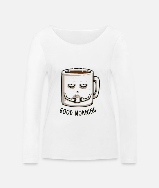 Food Collection V2 Long sleeve shirts - good morning - Women's Organic Longsleeve Shirt white