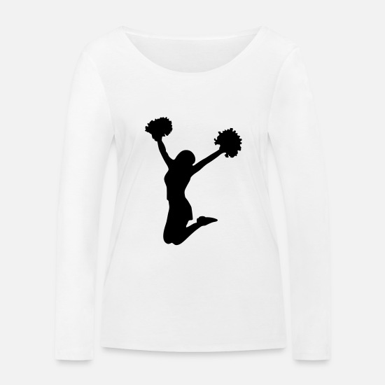Sexy Manches longues - cheerleader - T-shirt manches longues bio Femme blanc