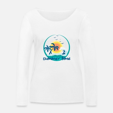 summer time - Frauen Bio Langarmshirt