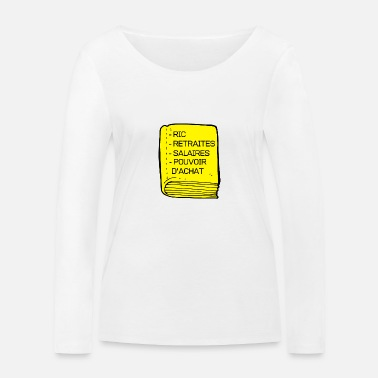 The Bible of the Yellow Vest - Women's Organic Longsleeve Shirt