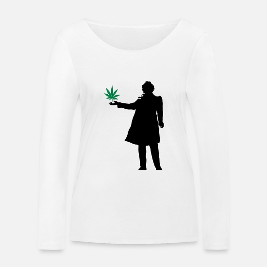 Love Long sleeve shirts - Most poets as thinker - Women's Organic Longsleeve Shirt white