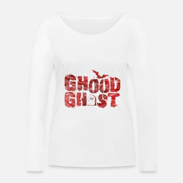 Ghost Ghost Ghost Halloween - T-shirt manches longues bio Femme