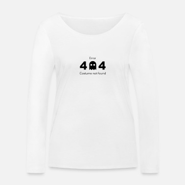 Costume Halloween Error 404 Costume not found - Frauen Bio Langarmshirt