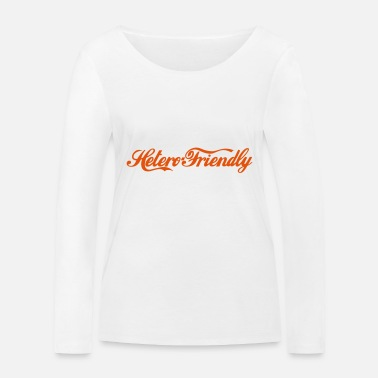 Romantisch friendly - Frauen Bio Langarmshirt