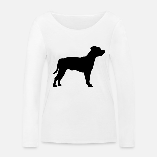 Bull Terrier Long Sleeve Shirts - Staffordshire Terrier - Women's Organic Longsleeve Shirt white