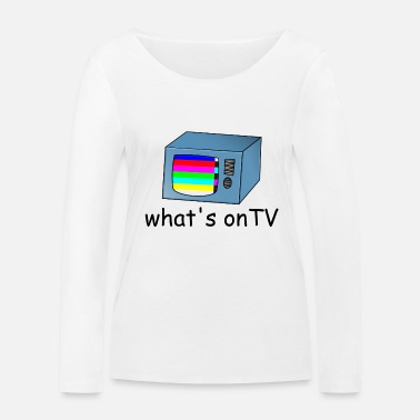 Tv TV TV with disturbance - Women's Organic Longsleeve Shirt