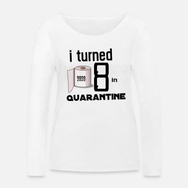 Birthday MY 8TH ANNIVERSARY OF QUARANTINE. - Women's Organic Longsleeve Shirt