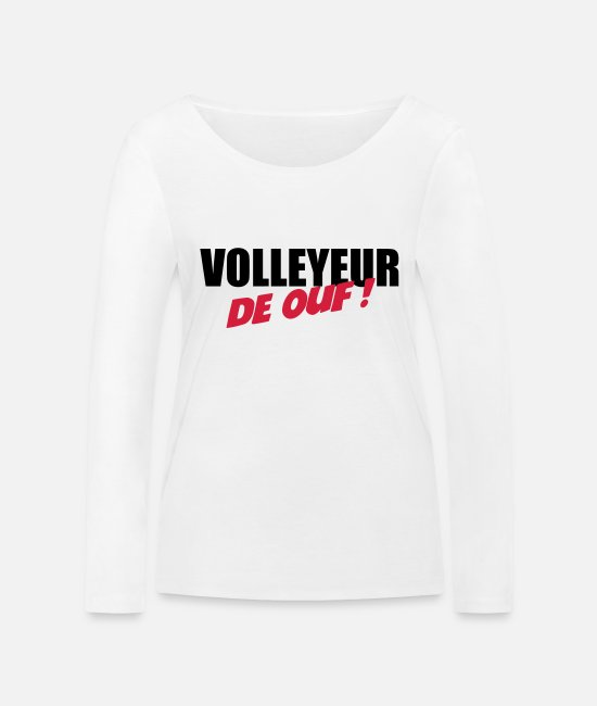 Play Long sleeve shirts - Volleyball - Volley Ball - Sport - Sportsman - Women's Organic Longsleeve Shirt white