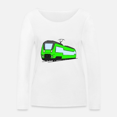 Regional Train Regional train train locomotive railroad model railway - Women's Organic Longsleeve Shirt