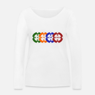 Pokerchips Pokerchips transparent - Frauen Bio Langarmshirt