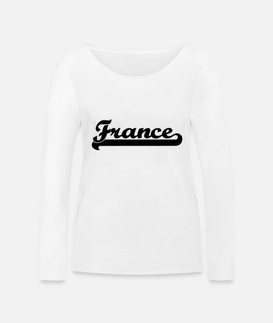 Lettering Long sleeve shirts - france magazine - Women's Organic Longsleeve Shirt white