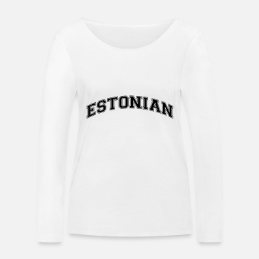 Style estonian college style curved logo - Women's Organic Longsleeve Shirt