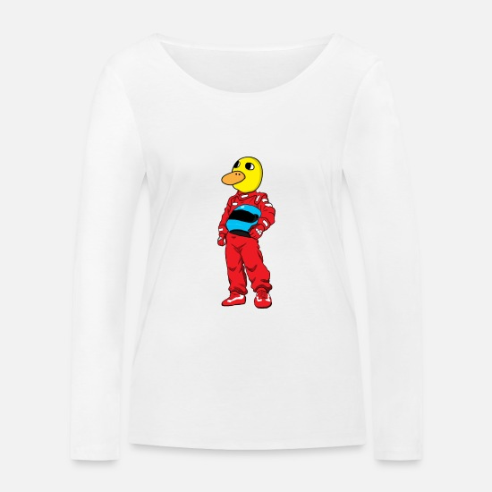 Automobile Long Sleeve Shirts - Duck Racing Race - Women's Organic Longsleeve Shirt white