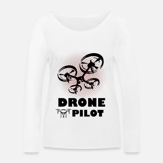 Fly Long Sleeve Shirts - drone pilot - Women's Organic Longsleeve Shirt white