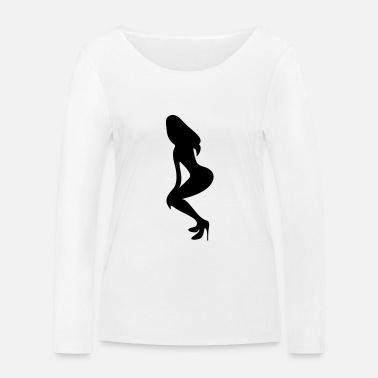 Long Underwear ۞»♥Vector Sexy Wasp-waisted woman on Stilettos♥ - Women's Organic Longsleeve Shirt