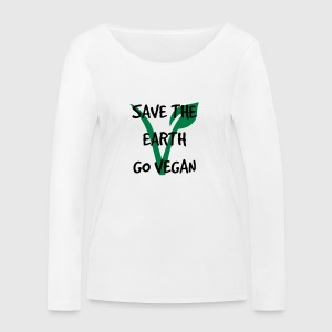 Save the earth go vegan - Frauen Bio-Langarmshirt von Stanley & Stella