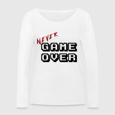 Never game over white - T-shirt manches longues bio Stanley & Stella Femme