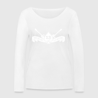 Rock shirt ace of spades and number 13 (white) - Women's Organic Longsleeve Shirt by Stanley & Stella