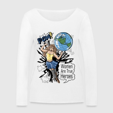 Women rule the world! - Women's Organic Longsleeve Shirt by Stanley & Stella