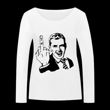 middle finger - Women's Organic Longsleeve Shirt by Stanley & Stella