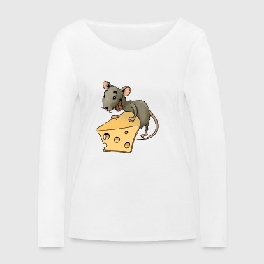 Fiese mouse rodent mouse vermin rodent cheese - Women's Organic Longsleeve Shirt by Stanley & Stella