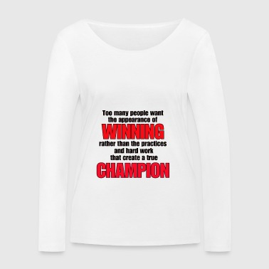 TRUE CHAMPION - Women's Organic Longsleeve Shirt by Stanley & Stella