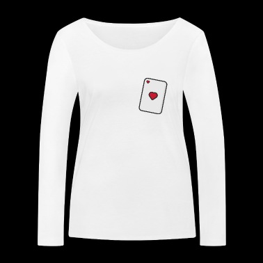 Hearts, Playing card - Women's Organic Longsleeve Shirt by Stanley & Stella