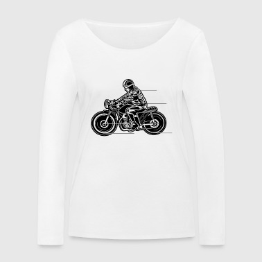 Cafe Racer Motorcycle 04_black - Women's Organic Longsleeve Shirt by Stanley & Stella