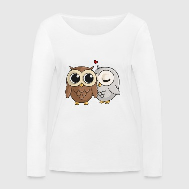 In love comic owls - Women's Organic Longsleeve Shirt by Stanley & Stella
