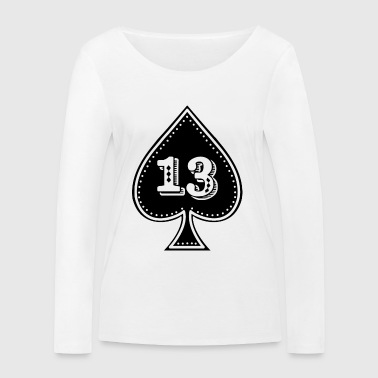 rocker design Ace of Spades with number 13 - Women's Organic Longsleeve Shirt by Stanley & Stella