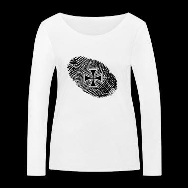 fingerprint dns dna gift iron cross iron - Women's Organic Longsleeve Shirt by Stanley & Stella