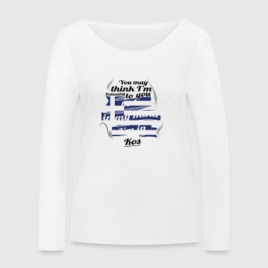 GREECE GREECE TRAVEL IN IN Greece Kos - Women's Organic Longsleeve Shirt by Stanley & Stella